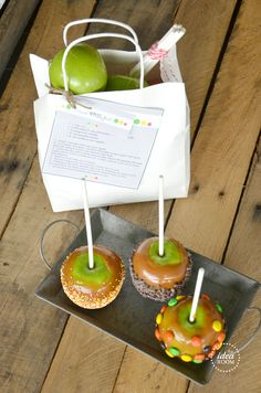 "Cute idea for a neighbor gift (or ""You've Been Booed"") - carmel apple gift kit (with free printable)"