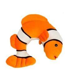 Lil Lewis Explorers Kids Travel Neck Pillow - Clown Fish - Travel Comfort - Travel Pillow - Neck Rest - Ear Plugs