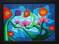 abstract-floral-glass-painting