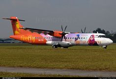 Firefly (MY) ATR 72-600 (72-212A) 9M-FIB aircraft, painted in ''Fareeda Head Scarves'' special colours Jun. 2014, withdrawn from use Jun. 2016, & the sticker ''Tudung Eksklusif Nombor 1 Malaysia'' on the airframe, skating at Malaysia Kuala Lumpur Sultan Abdul Aziz ex International Airport. 18/06/2014.