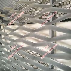 Ruby Color powder coated Alum Expanded mesh RAL3003 ,Large hole size 400mm Fluorocarbon painting expanded aluminum metal mesh