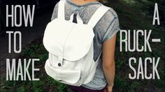 Cute DIY Backpack! - How to make a faux leather rucksack from scratch.