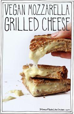 Vegan Mozzarella Grilled Cheese