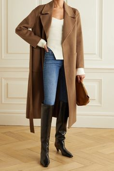 Long Coat Outfit, Winter Coat Outfits, Skirt And Top Set, Michael Kors, Coats For Women, Wool Blend, Casual Outfits, Fashion Outfits, Winter Looks