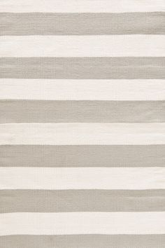 Dash and Albert Rugs Catamaran Ivory & Taupe Striped Area Rug | AllModern