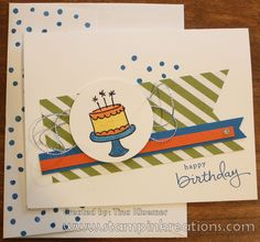 www.stampinkreations.com, Stampin' UP!, Endless Birthday Wishes, Birthday Card