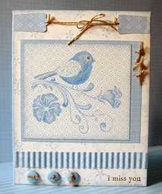 using Stampin Up Wings of Friendship