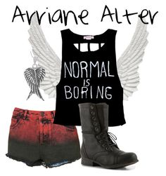 """Arriane Alter"" by alia-katara-tris-potter ❤ liked on Polyvore featuring Wildfox, Tressa and Madden Girl"