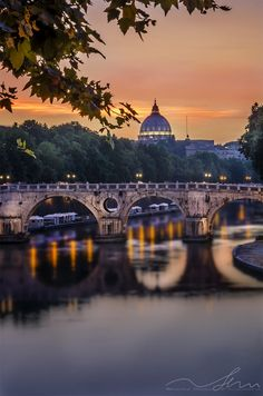 **Sunset in Rome