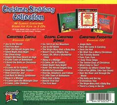Christmas Singalong Collection Back Cover