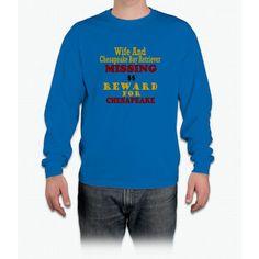 Wife & Chesapeake Bay Retriever Missing Long Sleeve T-Shirt