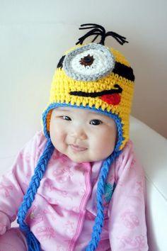 Cute Minon hat for Halloween costume.  Found on Ebay.