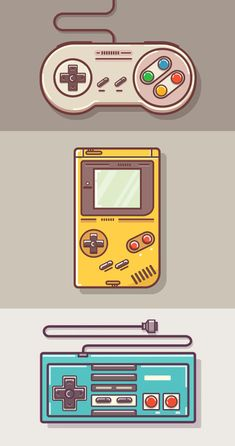 "theomeganerd:  ""Game Controllers  Created by Graphicsoulz 