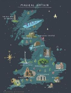 Explore magical things to do in Britain with our map! How can it be 20 years since the first Harry Potter book was published? Explore our map and see how many of Britain's magical places you have visited. Map Of Britain, Great Britain, Visit Britain, The Places Youll Go, Places To Visit, Places To Travel, Travel Destinations, Europe Places, Voyage Europe