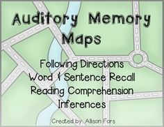 Great comprehensive auditory memory packet that can be used for all ages!