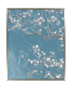 "Teal Blossoms Hand Embellished Giclee Print, Multi, 50"" x 38"" at MYHABIT"