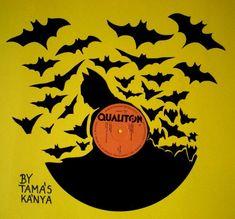 batman silhouette vinyl records art by tamas kanya by tom-tom1969.deviantart.com on @DeviantArt