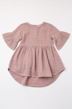 Mauve Ruffle Trim Button Back Baby Dress - KiD's dresses . - Mauve Ruffle Trim Button Back Baby Dress – KiD's dresses - Baby Outfits, Baby Girl Dresses, Kids Outfits, Dress Girl, Toddler Outfits, Boho Dress, Fashion Kids, Baby Girl Fashion, Fashion Games