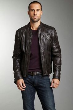 Love leather on men.