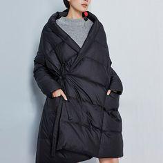 Black down jacket winter down coat oversized by newstar2016