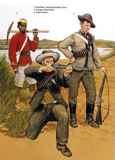 Natal Native Pioneer, Volunteer Transvaal Burgher Force & Trooper, Natal Horse, 1879