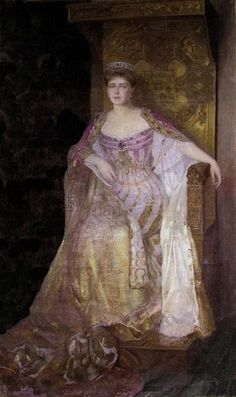 Queen Marie of Romania~ This British- and Russian-ancestry beauty married Ferdinand of Hohenzollern-Sigmaringen, destined to be King of Romania, in 1893. She was courted and proposed to by the future George V, but the Germanophobic Alexandra and Anglophobic Maria Alexandrovna broke up the proposed marriage