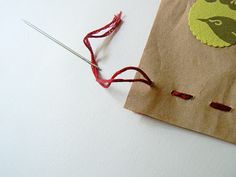 stitched gift bag