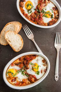 Ratatouille with Baked Eggs | TheCornerKitchenBlog.com #recipe #eggs #brunch
