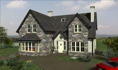 dorm120 Bungalow Exterior, Bungalow House Design, Future House, My House, Dormer House, House Designs Ireland, Grey Houses, Dream Home Design, House Goals