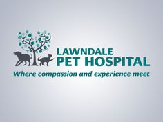 Veterinary logo design by http://www.beyondindigopets.com: Lawndale Pet Hospital