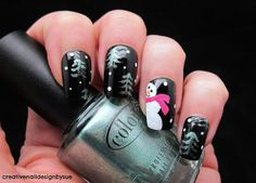 Creative Nail Design by Sue: Let It Snow Challenge-Ugly Christmas Sweater