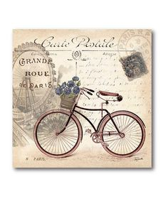Take a look at this Vintage Bicycle 2 Canvas Wall Art by COURTSIDE MARKET on #zulily today!
