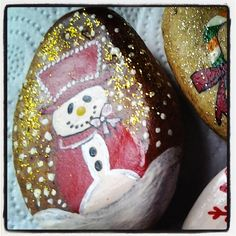 #snowman #paintingstone #toorder #gift #souvenirshop #
