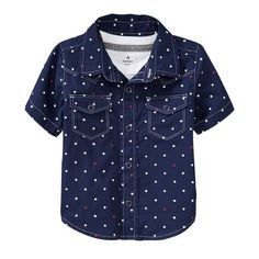 Old navy star button up shirt