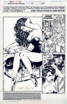 Sensational She-Hulk #45, page 1 by John Byrne.