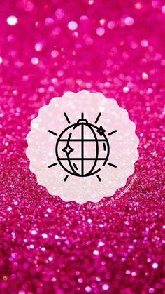 """Capas para destaques do instagram tema """" Glitter Rosa """"( para mais complementação segue o insta @capas_para_destaques_liih) Glitter Rosa, Pink Glitter, One Word Quotes, Instagram Highlight Icons, Insta Story, Wallpaper, Baddies, Instagram Story, Objects"""