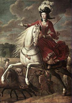 lizabeth Cahrlotte d'Orleans,Duchesse de Lorraine by Jean-Baptiste Martin,c.1710-15