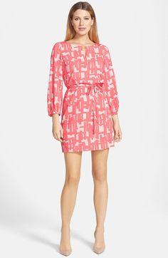 Tahari Print Shift Dress (Petite)