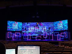 Concert Stage Design, Church Stage Design, Show Booth, Stage Lighting, Trade Show, Staging, Schools, Backdrops, Places To Visit