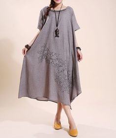 fashion cotton loose fitting long dress cloak Short by MaLieb, $96.00