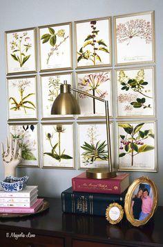 DIY Botanical Gallery Wall in the Master Bedroom | 11 Magnolia Lane