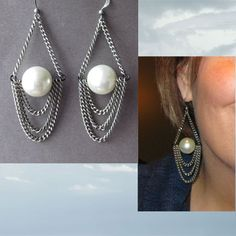 Earrings Everyday blog photo. Love these pearls 'n chains style
