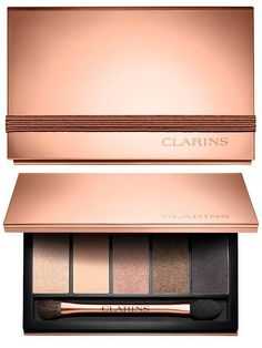 Clarins Instant Glow Spring 2016 Collection | Clarins 5-Colour Eye Palette – Limited Edition 03 Natural Glow – mother of pearl, beige matt, shimmering bronze, copper-brown, taupe