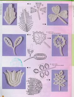 Crochet Leaves Pattern