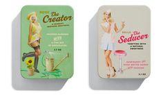 Chocolates with attitude retro girl packaging (by Bessermachen Studio)