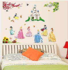 Large Walt Disney Elsa Princess Childrens Bedroom Collage Wall Vinyl Decal Sticker Waterproof Art Nursery Home Decor Baby