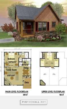 small cabin designs with loft - Small House Plans