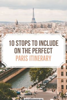 These best things to do in Paris will help you create the perfect Paris itinerary! Our 10 stops for your Paris itinerary will show you the best of the city Paris Travel Guide, Europe Travel Tips, London Travel, European Travel, Travel Advice, Travel Destinations, Travel Guides, Travel Trip, Travel Abroad