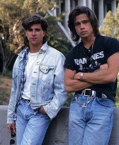 55 Rare Photos of Brad Pitt Through the Years Celebrity Moms, Celebrity Crush, Celebrity Photos, Celebrity Style, Brad Pitt Vampire, Ramones, Brad Pitt Hair, Brad Pitt Photos, Tony Scott