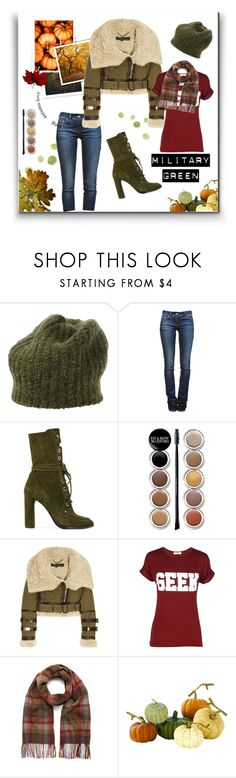 """Military Green for Fall"" by tre0911 ❤ liked on Polyvore featuring Étoile Isabel Marant, Casadei, Giorgio Armani, Burberry, Mulberry and Home Decorators Collection"
